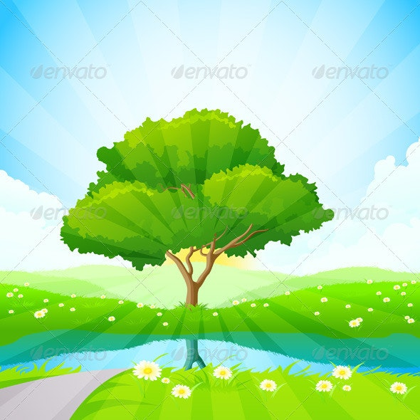 Green Tree Background - Landscapes Nature