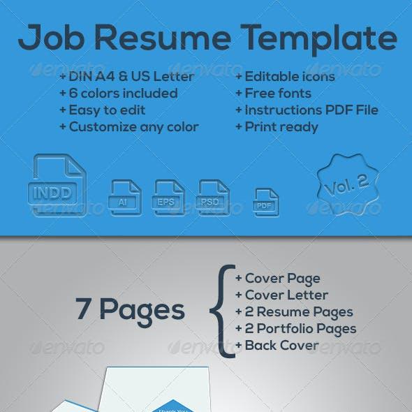 Job Resume Template Vol.2