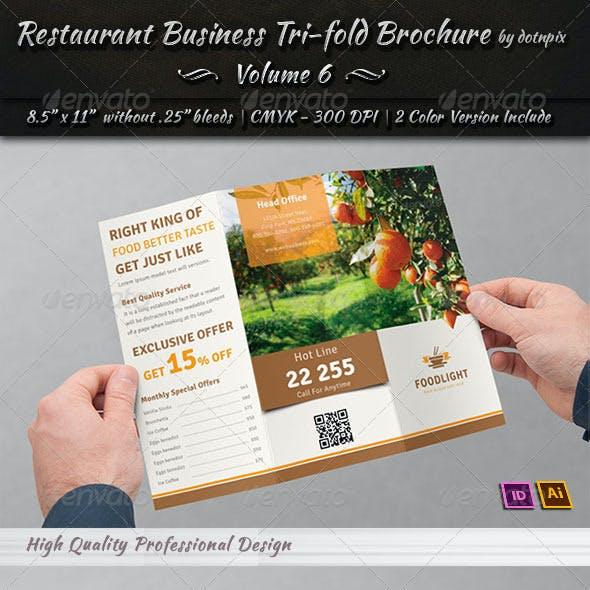 Restaurant Business Tri-Fold Brochure | Volume 6