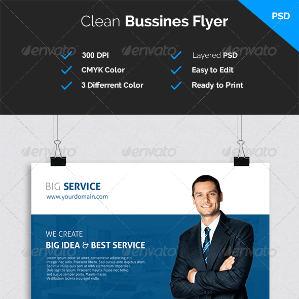 Clean and Modern Bussines Flyer