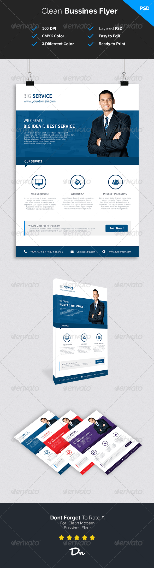 Clean and Modern Bussines Flyer - Corporate Flyers