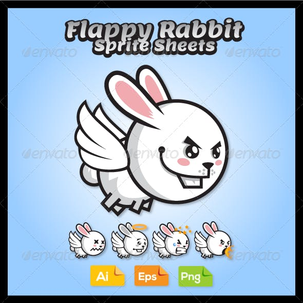 Game Character - Flappy Rabbit