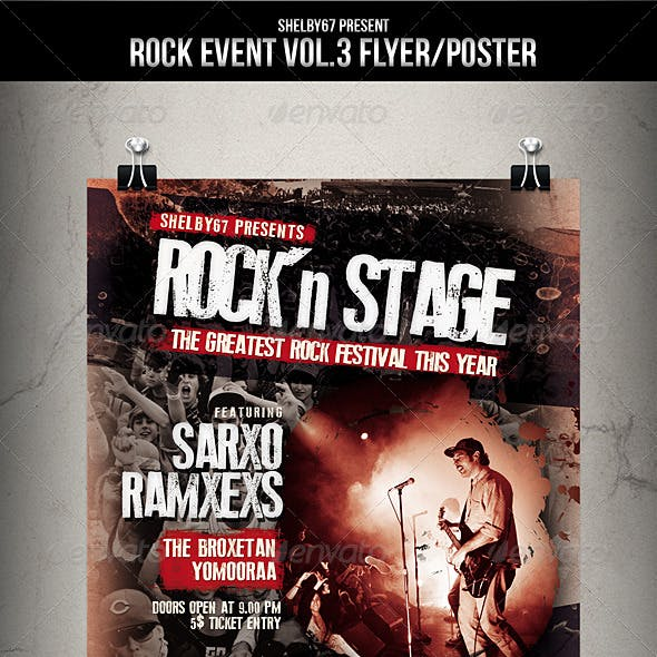 Rock Event Flyer / Poster Vol.3