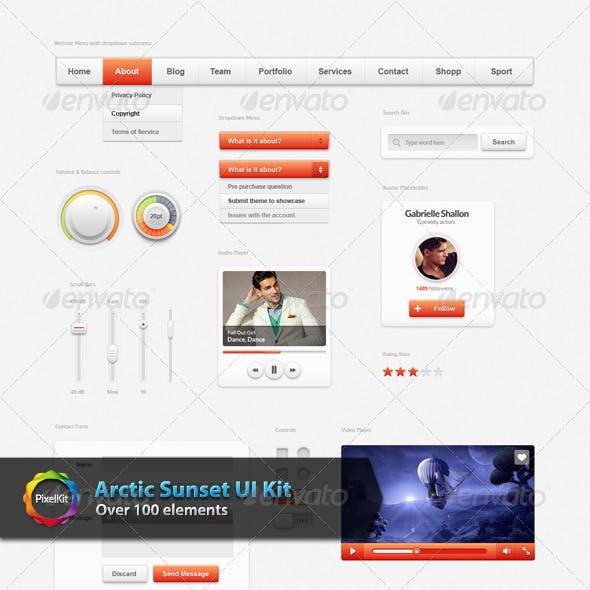 Arctic Sunset UI Kit