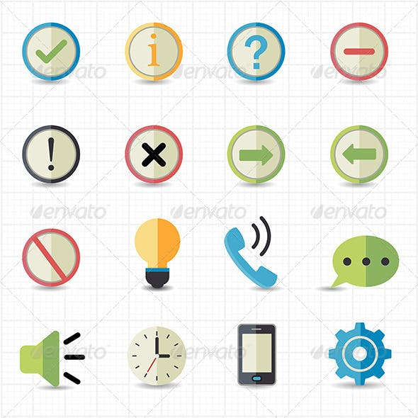 Notification and Information Icons