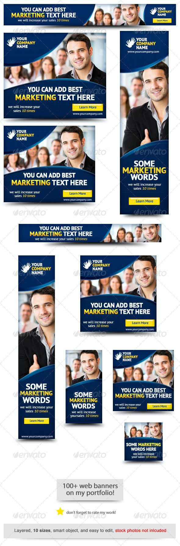Corporate PSD Banner Ad Template 5 - Banners & Ads Web Elements