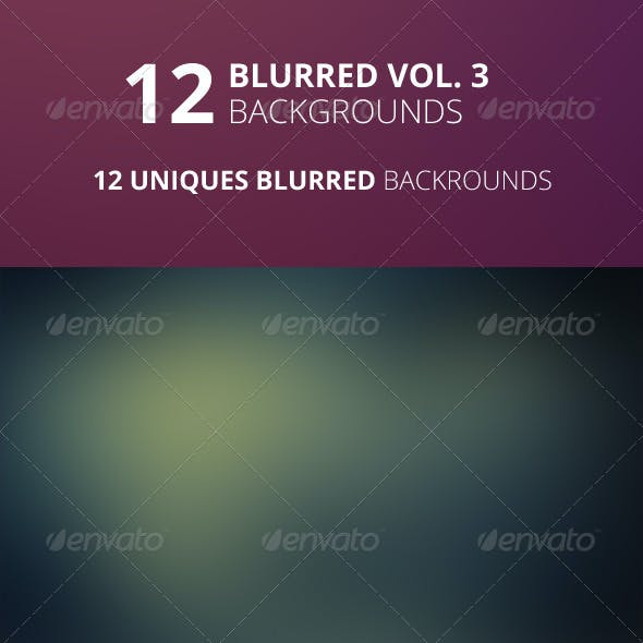 12 Blurred Backgrounds Vol. 3