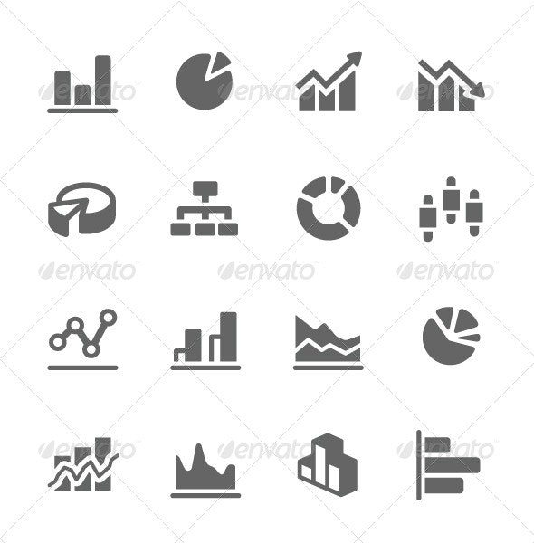 Graph and Diagram Icon Set - Business Icons