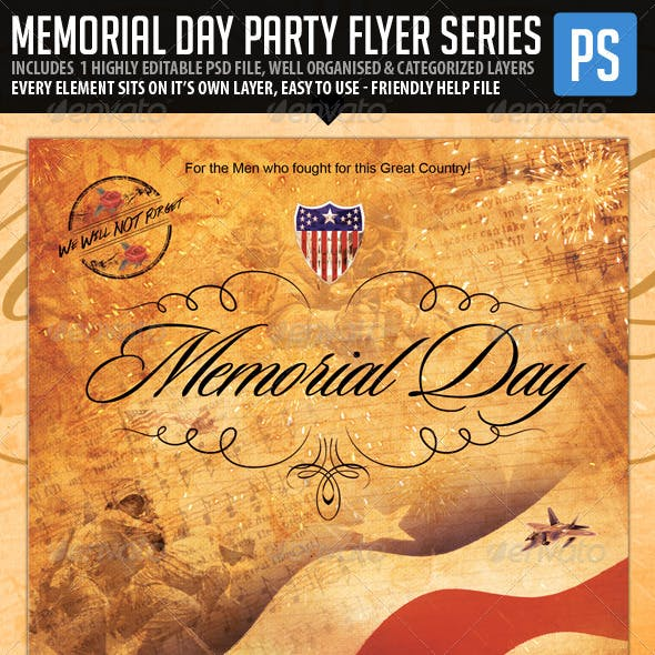 Memorial Day Flyer - We will Never Forget