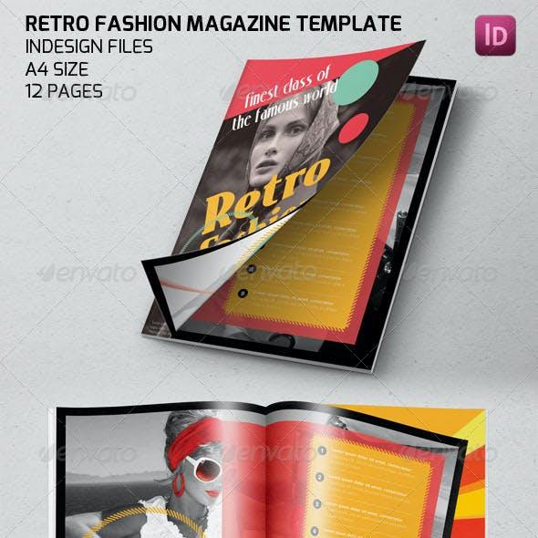 Retro Fashion Magazine Template
