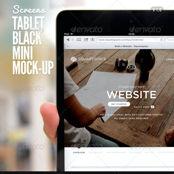 Tablet Black Pad Mini Mock-Up