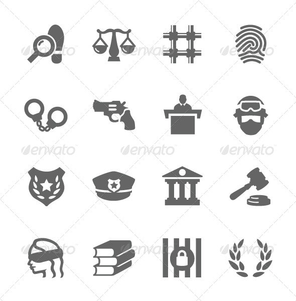 Law and Justice Icons - Miscellaneous Icons