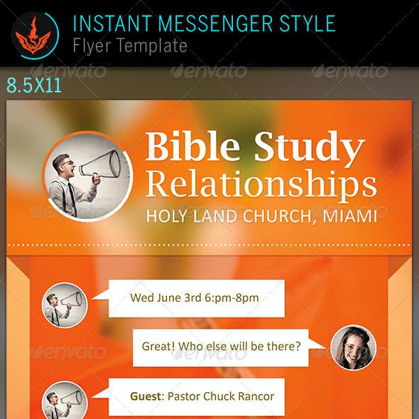 Relationships Bible Study: Church Flyer Template