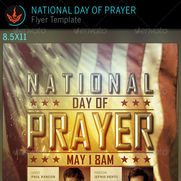 National Day of Prayer: Church Flyer Template