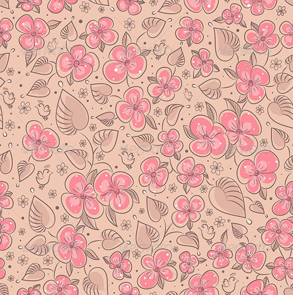Seamless Floral Pattern Flowers Texture - Flowers & Plants Nature