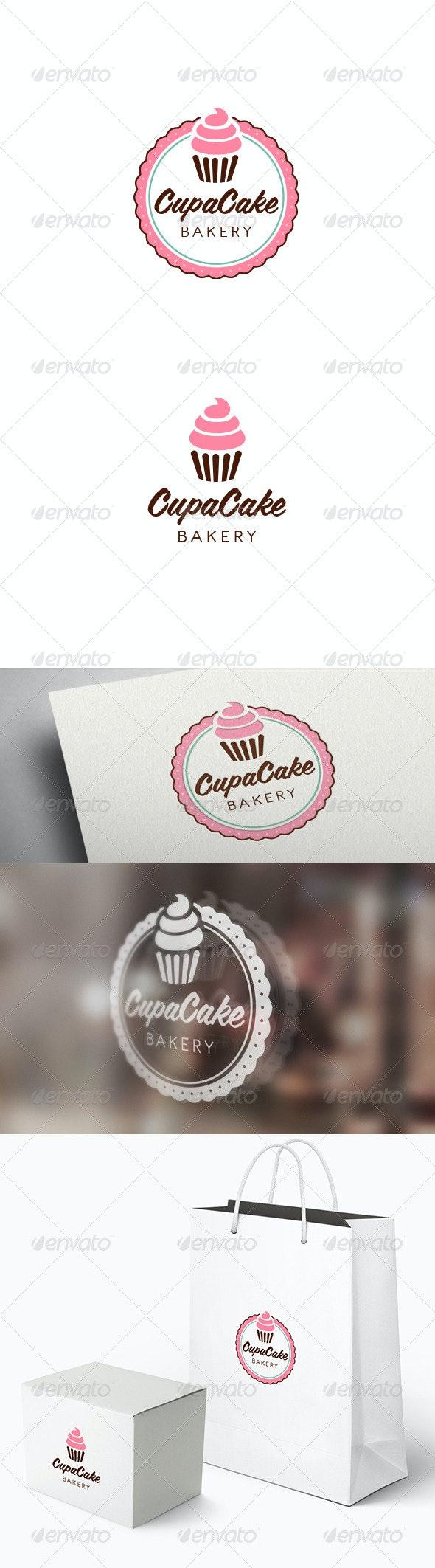 Cupacake Logo Template - Food Logo Templates