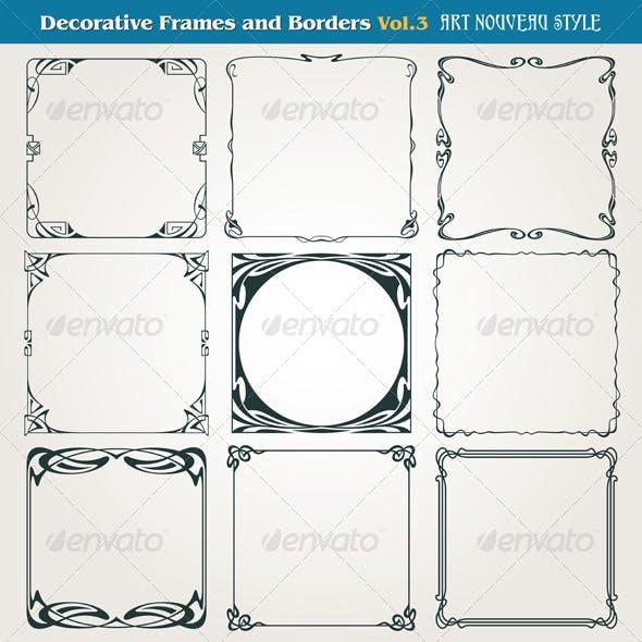 Decorative Frames and Borders Art Nouveau