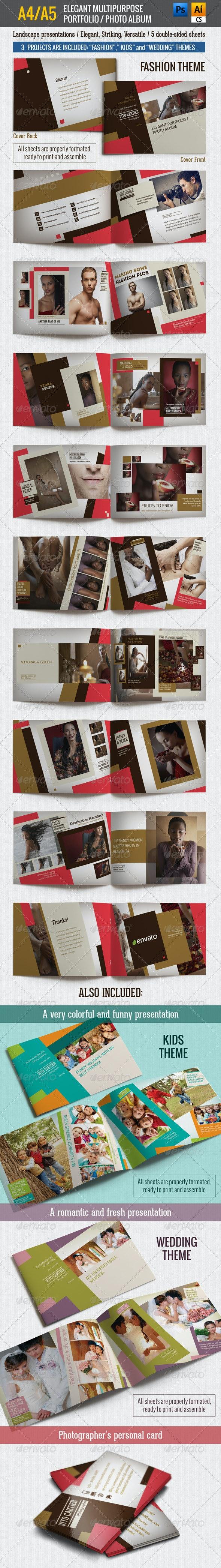 A4/A5 Elegant Multipurpose Portfolio / Photo Album
