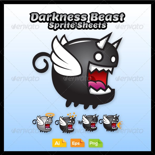 Game Character - Darkness Beast Sprite Sheets