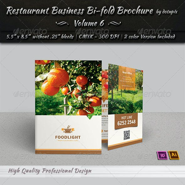 Restaurant Business Bi-Fold Brochure | Volume 6