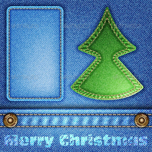 Christmas Jeans Texture