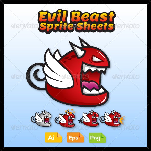 Game Character - Evil Beast Sprite Sheets