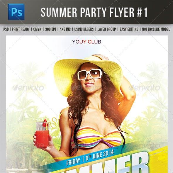 Summer Flyer Print Template