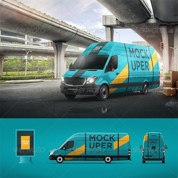 Van & Car Mock-Ups (2 PSD)