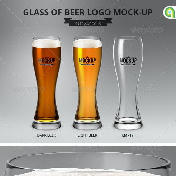 Glass of Beer Logo Mock-Up