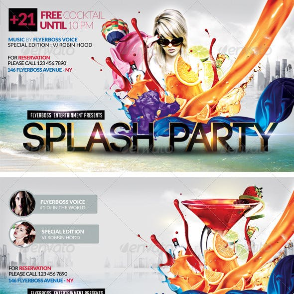 Splash Party Flyer-Front & Back