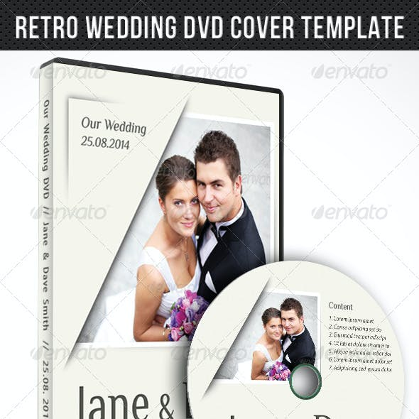 Wedding DVD Cover Template 04