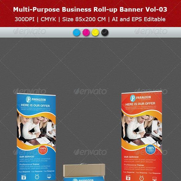 Multipurpose Business Roll-Up Banner Vol-03