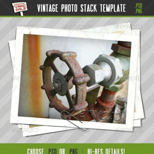 Vintage Stacked Photos Template