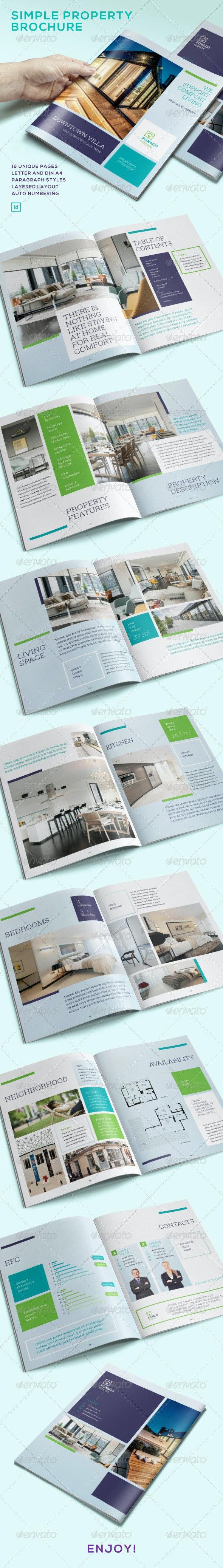 Simple Property Bruchure - Brochures Print Templates