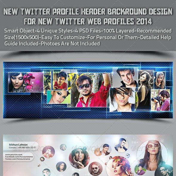 New Twitter Profile Header Backround Design
