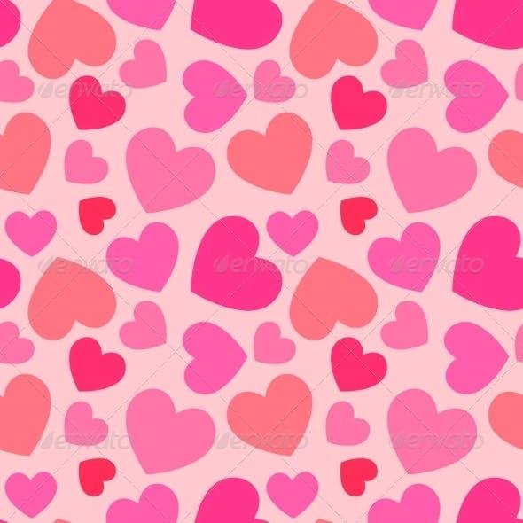 Pink Heart Seamless Pattern