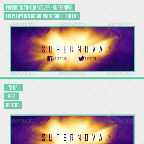Facebook Timeline Cover - Supernova