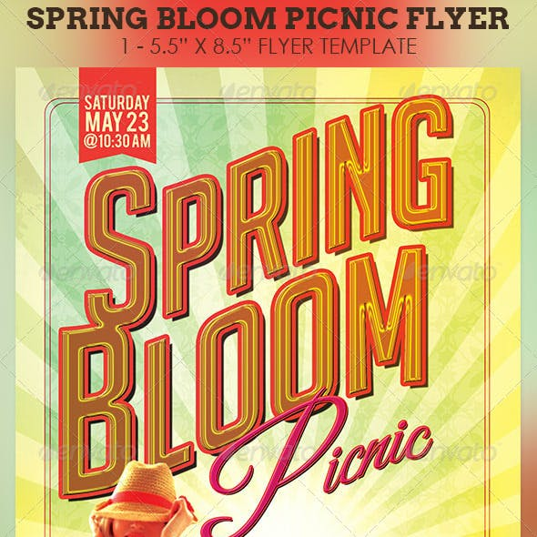 Spring Bloom Picnic Flyer Template