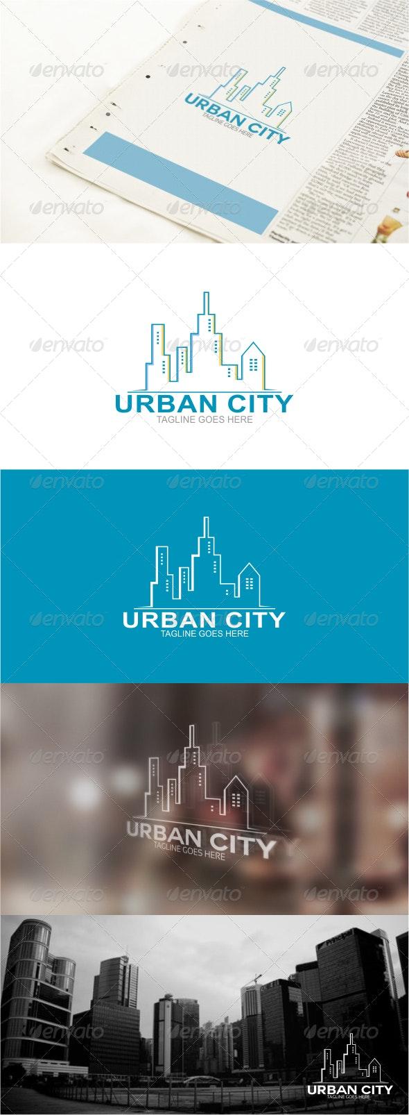 Urban City Logo Template - Buildings Logo Templates