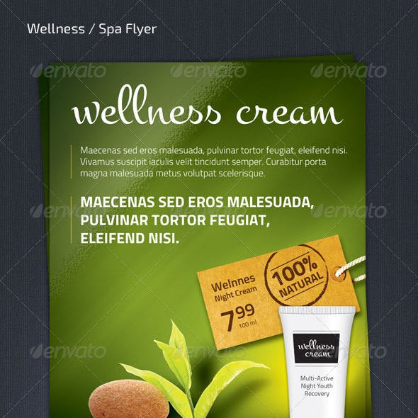 Wellness Spa Product Flyer (A4 - 210x297)