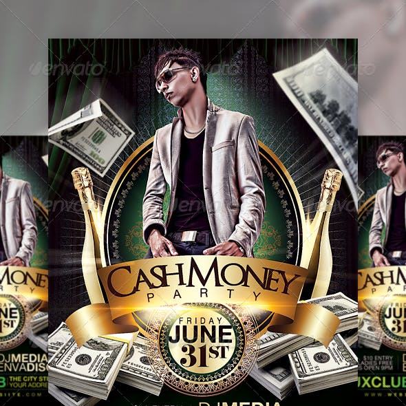 Cash Money Party Flyer