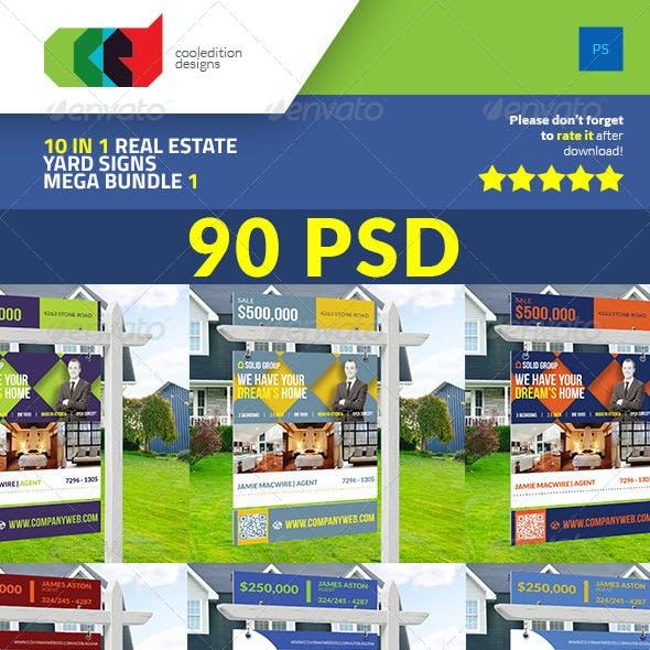 10 In 1 Real Estate Yard Signs Mega Bundle 1