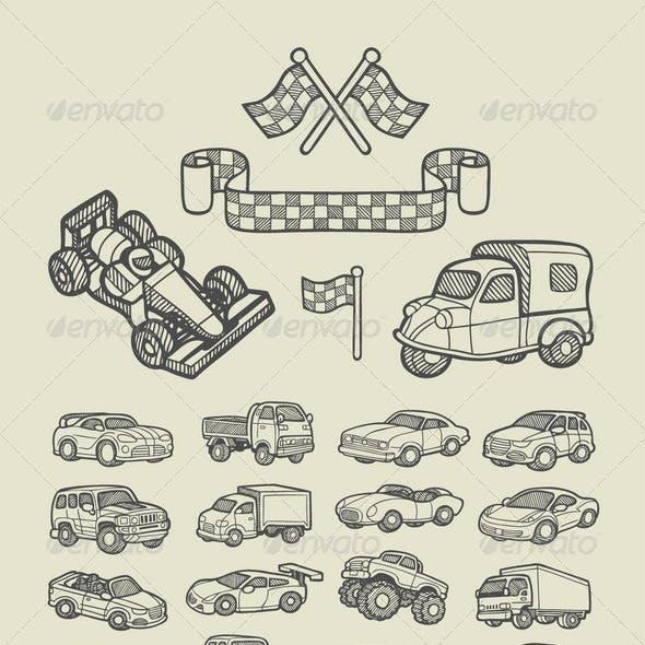 Car Icons Sketch