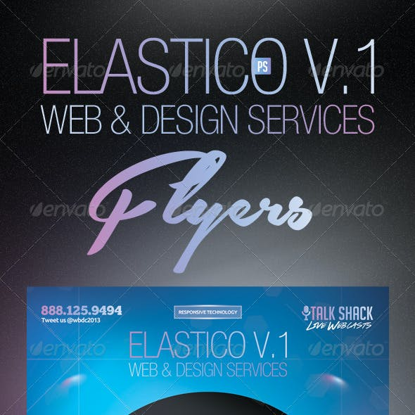 Elastico Web & Design Service Flyer
