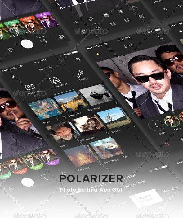 Polarizer: Photo Editing App GUI