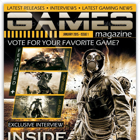 Gamers Magazine Cover Templates