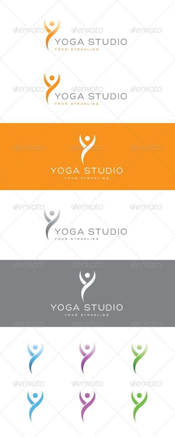 Yoga Studio Logo - Humans Logo Templates
