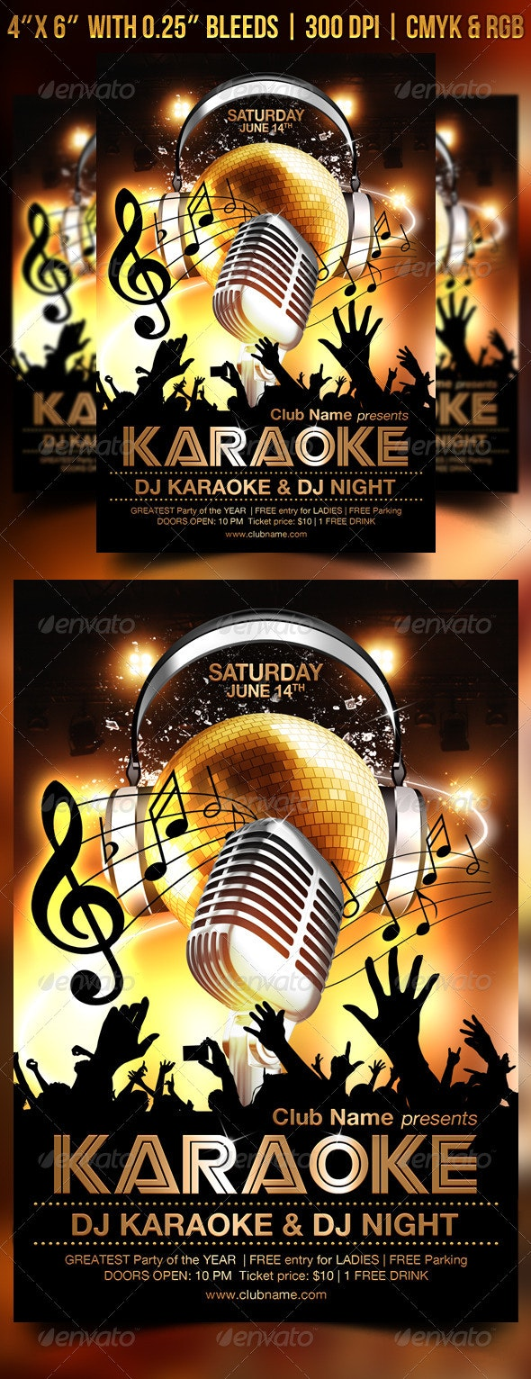 Karaoke Flyer Template - Clubs & Parties Events