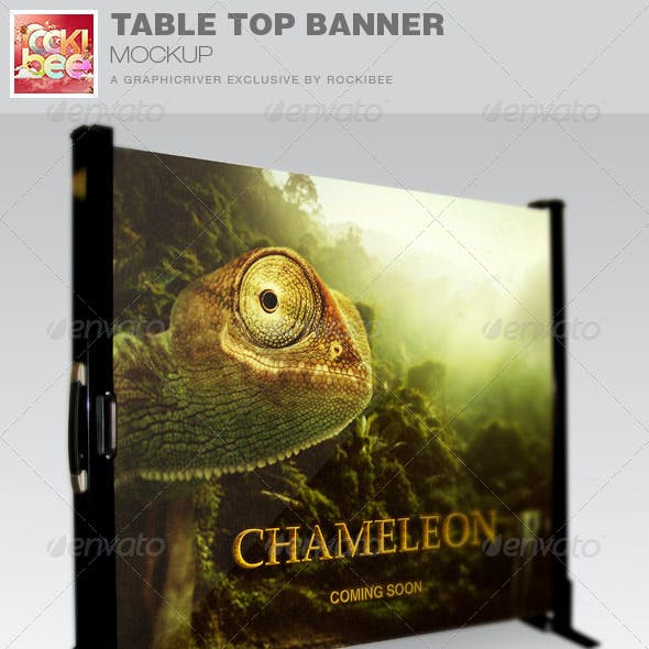 Table Top Banner Mockup Template