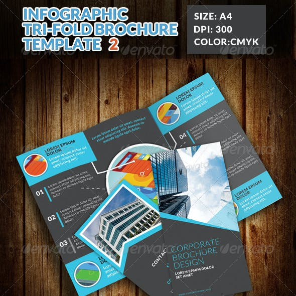 Infographic Corporate Tri Fold Brochure 2